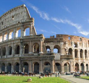 Colosseum in Rome tijdens een familiereis Italië