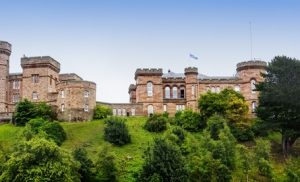 Inverness Castle in Inverness Schotland