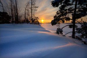 Zon en sneeuw in Finland